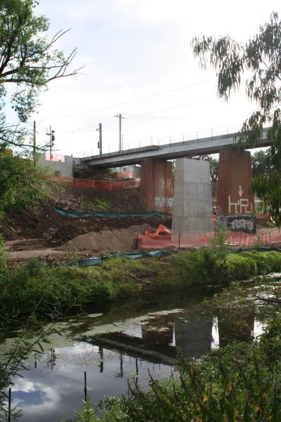The bridge across Merri Creek from the east