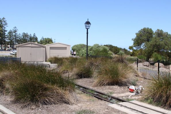 Locomotive sheds at the Semaphore end of the line