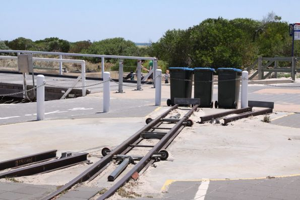 Turntable at the end of the runaround road at Semaphore terminus