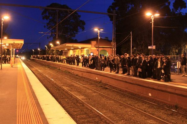 Still crowded at Newmarket, some of the abandoned passengers having escaped on the previous train