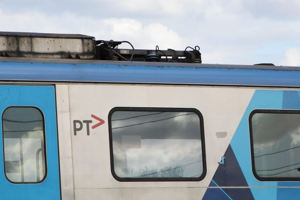 Pantograph still in place on Siemens 765M