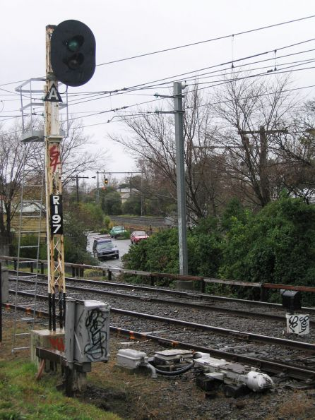 2 position 'Style R' automatic colour light signal R197 on the Flemington Racecourse line