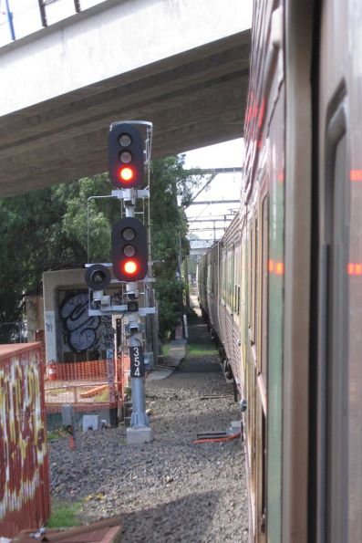 Passing signal 354 at Richmond Junction