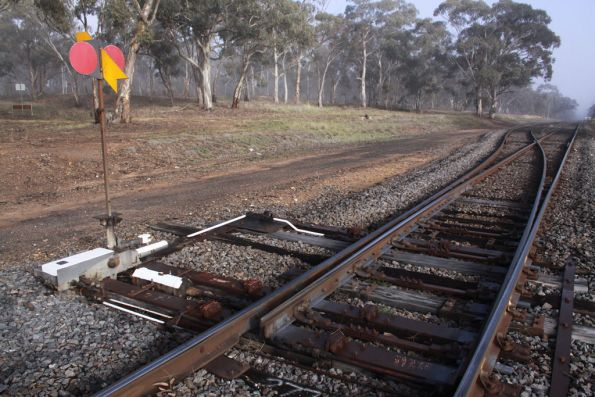Trailable facing points at the up end of Emu Loop
