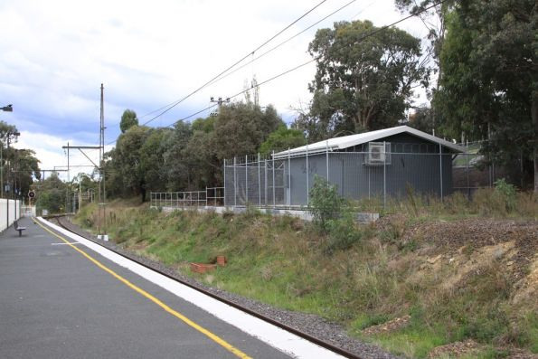 New signalling equipment room at Greensborough station