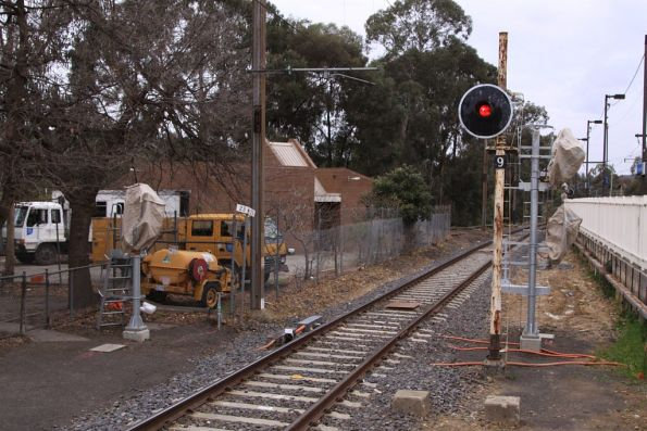New signals in place at the down end of Greensborough station