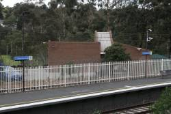 Signal and telegraph depot at the down end of Greensborough station