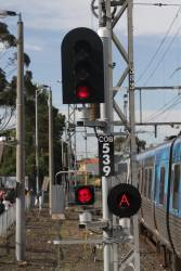 Home signal COB539 at Coburg