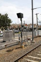 Banner indicator MPD551BI for down trains at Moonee Ponds