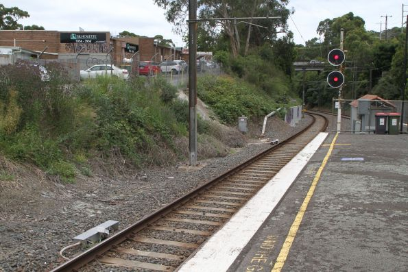 Speed proving trainstop for up trains approaching signal 42 at Upwey
