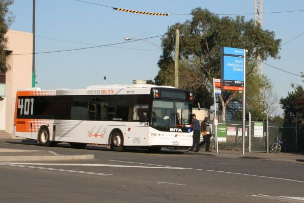 Sita bus #19 rego 6729AO picks up route 401 passengers at North Melbourne station