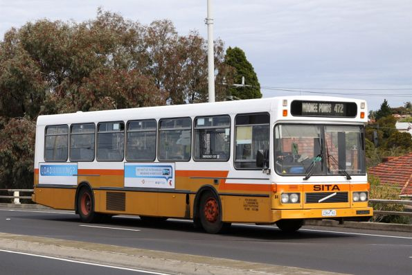 Sita high floor bus #64 2364AO on a route 472 service along Melbourne Road, Newport