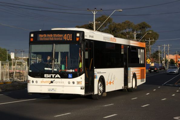 Sita #16 rego 6834AO passes Middle Footscray on the way to the depot
