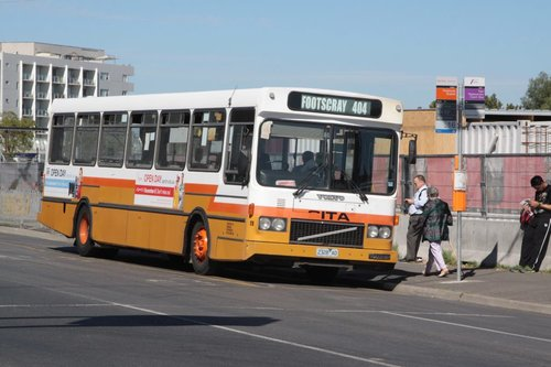 Sita #28 rego 2328AO picks up route 404 passengers at Footscray station