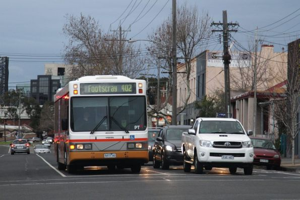 Sita 5477AO with a route 402 service on Arden Street in North Melbourne