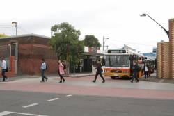 Sita high floor bus #73 rego 2373AO arrives at Yarraville with a route 431 service