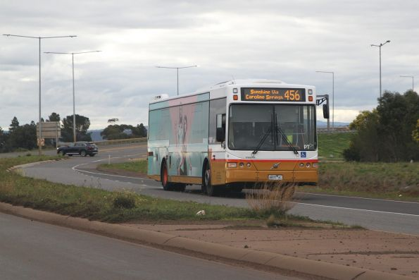 Sita bus 6837AO on route 456 at Rockbank station