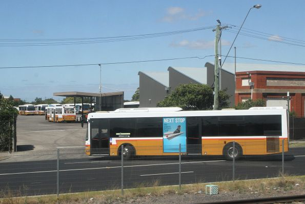 Sita bus #128 arrives back at the West Footscray depot