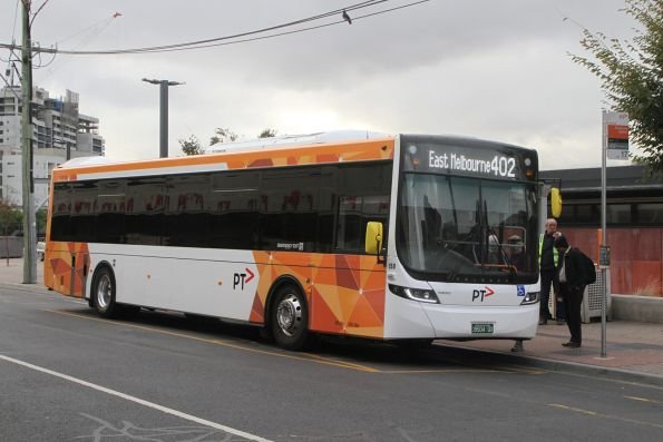 PTV liveried Sita bus #150 BS04QX on route 402 at Footscray station