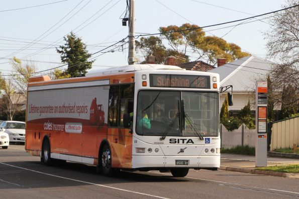 PTV liveried Sita bus #129 BS00BT on a route 428 service along Hampshire Road, Sunshine
