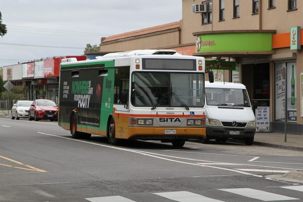 Sita bus #60 5607AO on route 420 along Durham Road, Sunshine