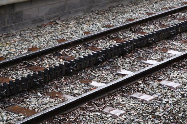 Sleeper and rack railway detail