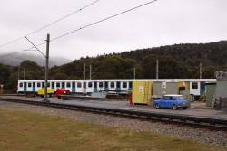 Skitube train at the workshops for summer