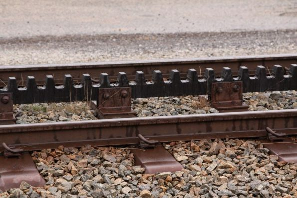 Sleeper and rack railway detail