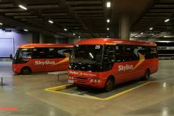 SkyBus hotel transfer buses #29 and #24 at Southern Cross