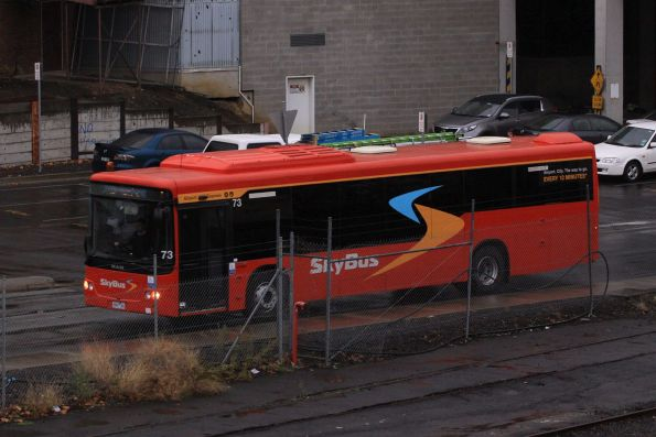 SkyBus #73 departs Southern Cross Station