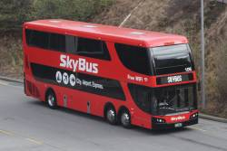 SkyBus double decker #106 BS01WY arrives at Southern Cross