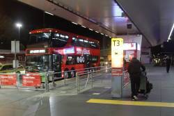 SkyBus double decker #101 waits for passengers at Melbourne Airport terminal 3