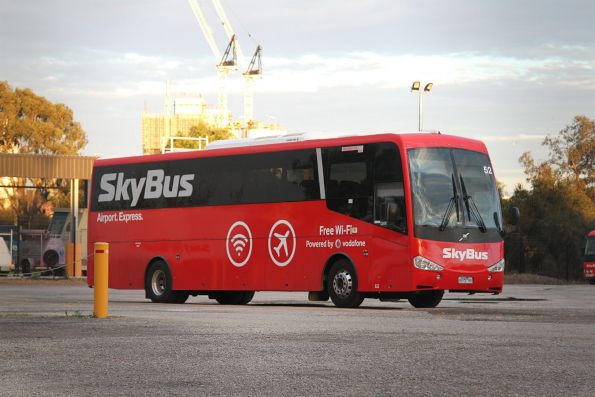 Skybus coach #52 6975AO parked at their West Melbourne depot