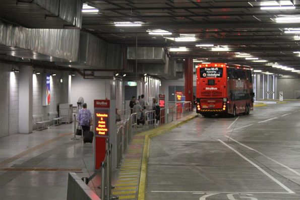 SkyBus departure area at Southern Cross Station