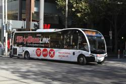 SkyBus #40 BS01DG in 'SkyBus Link' livery at Elizabeth and Collins Street