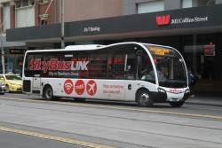 SkyBus #41 BS01OK in 'SkyBus Link' livery at Elizabeth and Collins Street