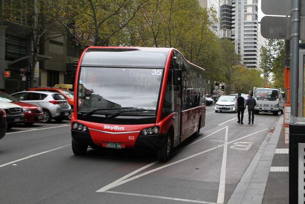 SkyBus #35 BS04NK on a hotel shuttle at Queen and Bourke Street
