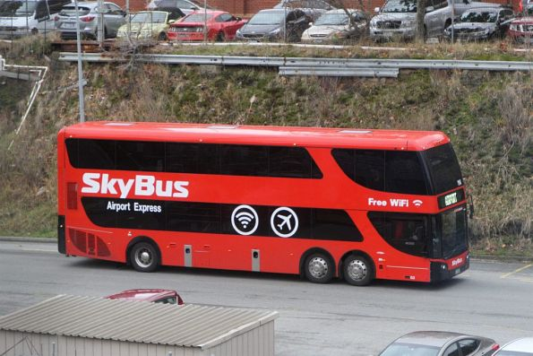 SkyBus double decker #114 arrives at Southern Cross Station