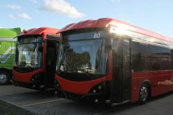 Ex-SkyBus Melbourne buses #80 and #81 up for sale at Pickles Auctions in Altona North