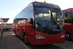 Ex-SkyBus Melbourne coaches #50 and #25 up for sale at Pickles Auctions in Altona North