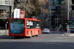 SkyBus Melbourne #206 BS02IY at City Road and Southbank Boulevard