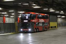 SkyBus Melbourne double decker bus #110 BS02KH arrives at Southern Cross Station