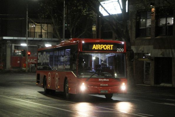SkyBus Melbourne #209 BS03KH heads along Adderley Street towards Southern Cross Station