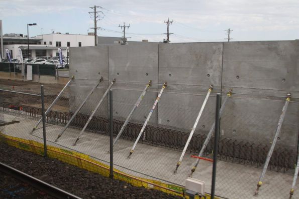 Southern bridge abutments taking shape