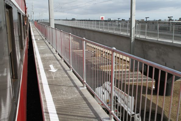 Emergency exit walkway on the completed Skye Road overpass