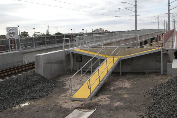 Emergency exit walkway at the Frankston end of the Skye Road overpass