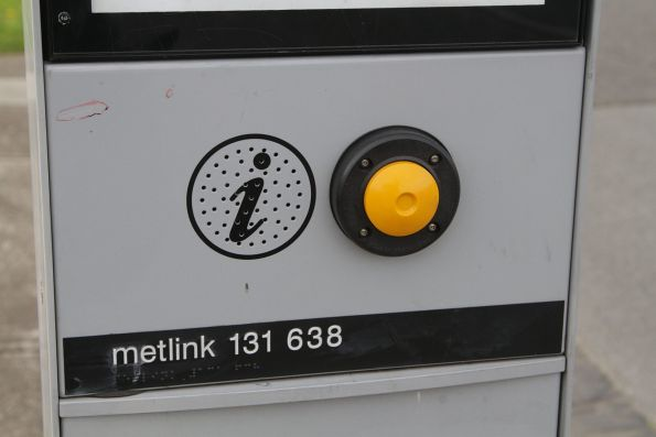 Metlink branding still in place on a SmartBus bus stop totem
