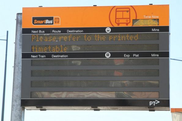 Defective SmartBus PIDS at Sunshine station