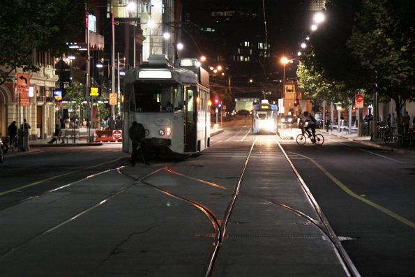 Driver of Z2.101 shunts at the La Trobe Street crossover on Swanston Street