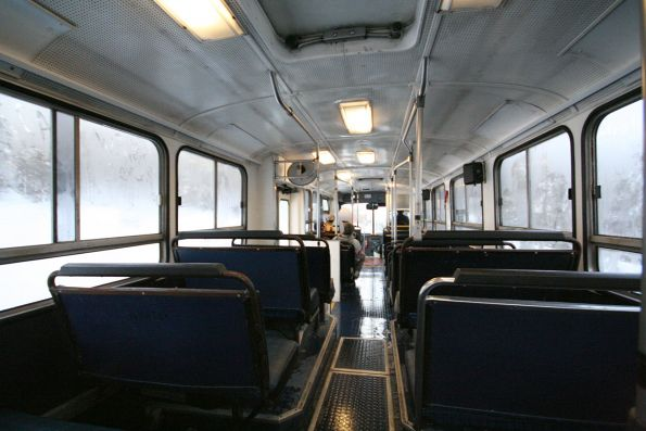 Inside ex-Sydney 2243AC at Mount Hotham